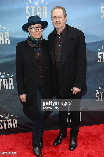 Jo Andres and Steve Buscemi attend the 'Bright Star' opening night on Broadway on March 24 2016 in New York City