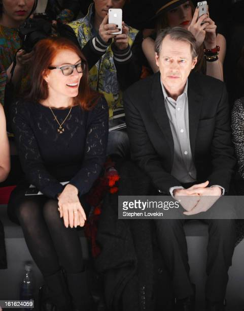 Jo Andres and Steve Buscemi attend the Nanette Lepore Fall 2013 fashion show during MercedesBenz Fashion Week at The Stage at Lincoln Center on...