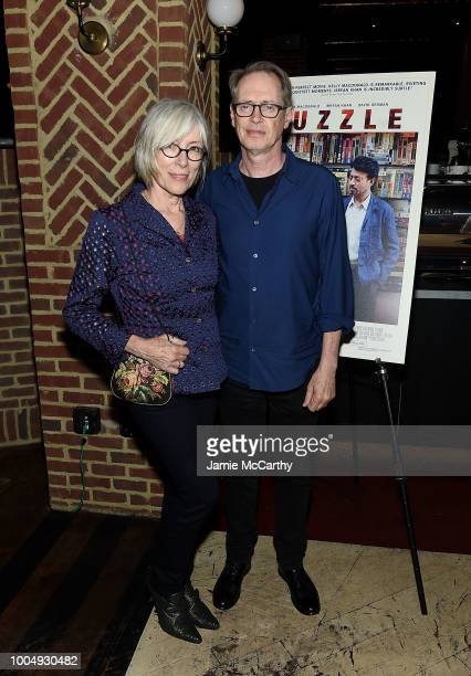 Jo Andres and Steve Buscemi attend the Puzzle New York Screening After Party at Oyster Bar at The Roxy Cinema on July 24 2018 in New York City