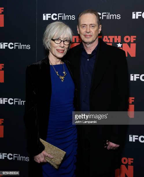 Jo Andres and Steve Buscemi attends 'The Death Of Stalin' New York premiere at AMC Lincoln Square Theater on March 8 2018 in New York City