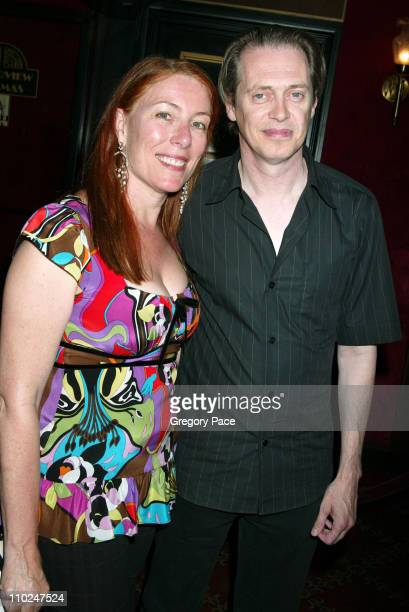 Jo Andres and Steve Buscemi during The Island New York City Premiere Inside Arrivals at Ziegfeld Theater in New York City New York United States