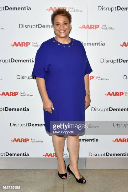 Jo Ann Jenkins attends a brain health event hosted by AARP featuring Katie Couric Jane Krakowski and AARP CEO Jo Ann Jenkins to #DisruptDementia at...