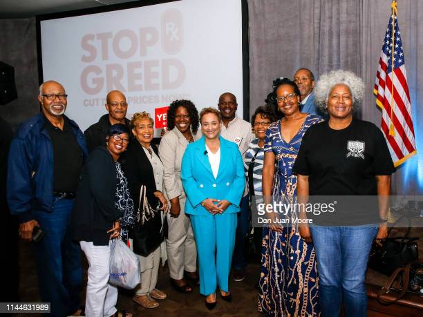 Jo Ann Jenkins take a photo with the audience after hosting the first of a series of u201cWe Hear Youu201d Town Halls to hear from older Americans...