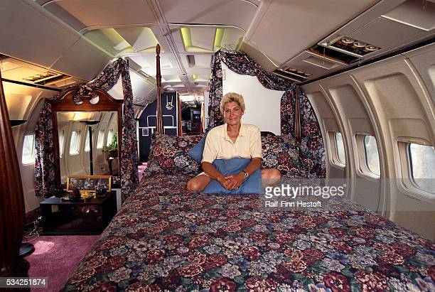 Jo Ann Ussery sits on her bed inside her converted Boeing 727 Rather than buying a mobile home Ussery purchased an old Boeing 727 for $2000 USD and...