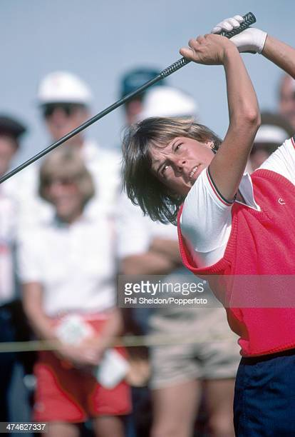 Jo Ann Washam of the United States in action during the Nabisco Dinah Shore Golf Championship held at the Mission Hills Country Club California circa...