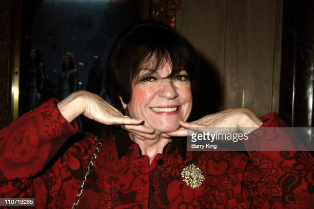 Jo Anne Worley during Riverdance Los Angeles Opening Arrivals at Pantages Theatre in Hollywood California United States