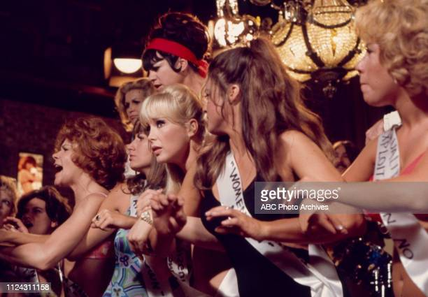 Jo Anne Worley, Sheila James Kuehl, Penny Marshall, Barbara Eden, extras appearing in the Walt Disney Television via Getty Images tv movie 'The...