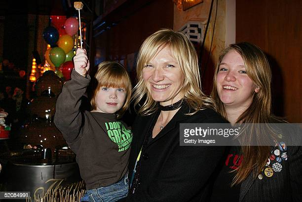 Jo Cas and India Whiley attend the aftershow party following The Magic Roundabout UK Charity Premiere at the New Connaught Rooms on January 30 2005...