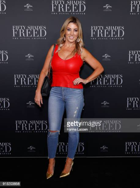 Jo Casamento attends the Fifty Shades Freed Launch Event on February 7 2018 in Sydney Australia