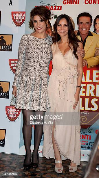 Jo Champa and actress Michela Quattrociocche attend the premiere of ''Natale A Beverly Hills'' at the Warner Moderno Cinema on December 17 2009 in...