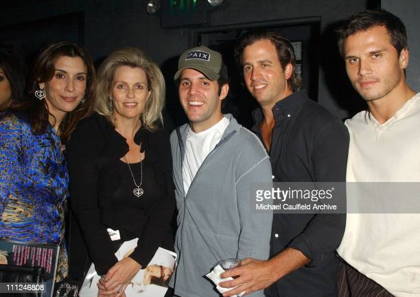 Jo Champa, Nancy Davis, James Perse and guests during LA Confidential Emmy / Fall Fashion Cover Party at Shelter Supper Club in West Hollywood,...