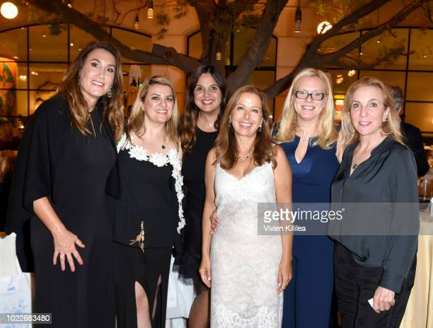 Jo Champa Poomehra Mezani Nikki Nia Karine Ohana Sharon Rechter and Susan Rockefeller attend Ohana Co LA Event Brands With Mission at The Peninsula...