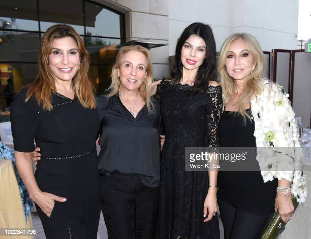 Jo Champa Susan Rockefeller Linda Collins and Anastasia Soare attend Ohana Co LA Event Brands With Mission at The Peninsula Beverly Hills on August...