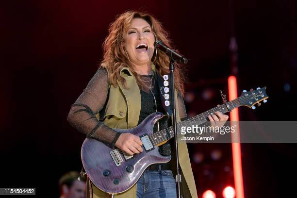 Jo Dee Messina performs on stage during day 2 for the 2019 CMA Music Festival on June 07, 2019 in Nashville, Tennessee.