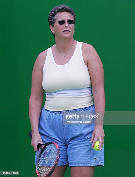 Jo Durie coach to Elena Baltacha of Great Britain during a training session prior to the Australian Open Grand Slam at Melbourne Park January 30 2005...