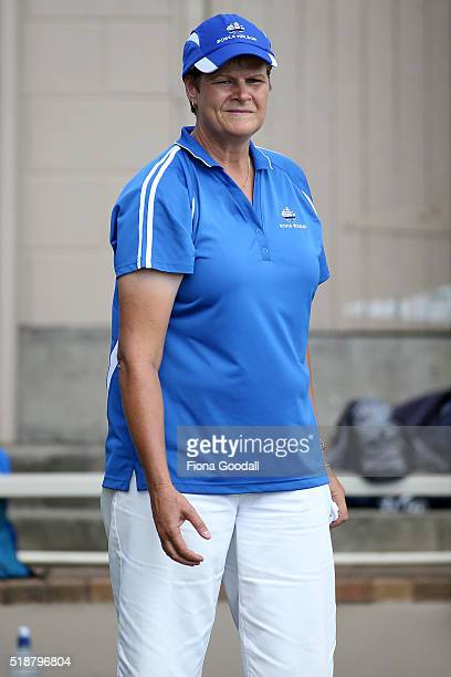 Jo Edwards of Nelson competes in the singles final against Sue Wightman of Northland during the Bowls New Zealand Intercentre at Howick Bowling Club...