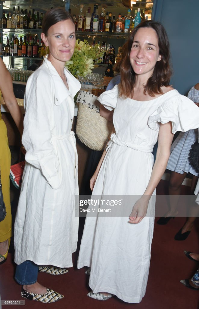 Jo Ellison (L) and Serafina Sama attend the Isa Arfen x Alex Eagle lunch at The Chess Club on June 19, 2017 in London, England.
