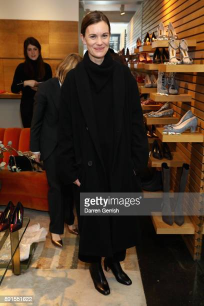 Jo Ellison attends the Rupert Sanderson Christmas 2017 lunch at Rupert Sanderson store on Bruton place on December 13 2017 in London England