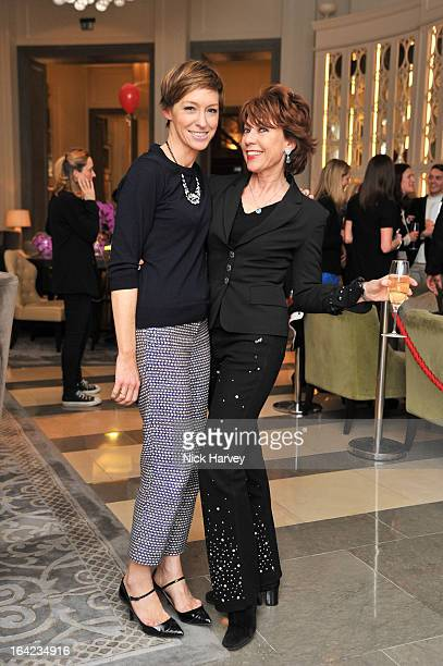 Jo Elvin and Kathy Lette attend the the VIP preview of the 'Above Beyond' series of unique theatrical performances at Corinthia Hotel London on March...