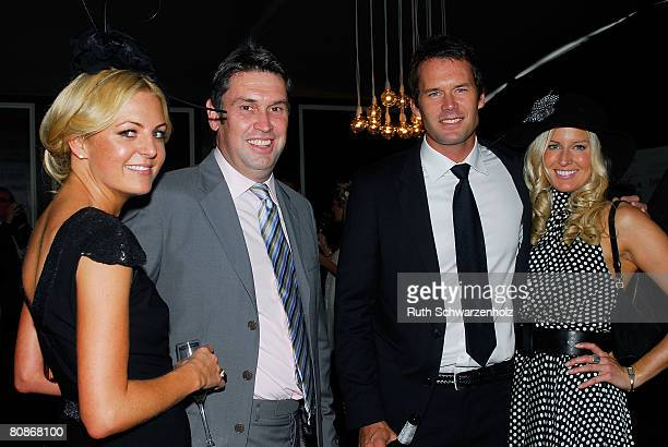 Jo Ferguson David Gyngell Tom Williams and Kylie Spear pose in the David Jones Marquee on Emirates Doncaster Day at the Royal Randwick Racecourse on...