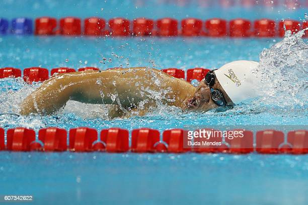 Jo Gi Seoung of South Korea competes in the Men's 50m Freestyle S4 Final on day 10 of the Rio 2016 Paralympic Games at the Olympic Aquatics Stadium...