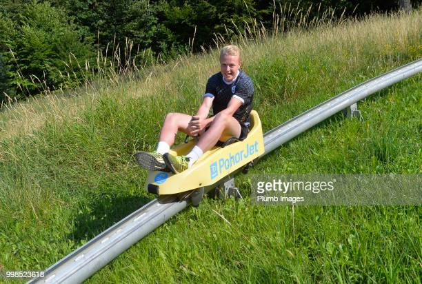 Jo Gilis during team bonding activities during the OHL Leuven training session on July 09 2018 in Maribor Slovenia