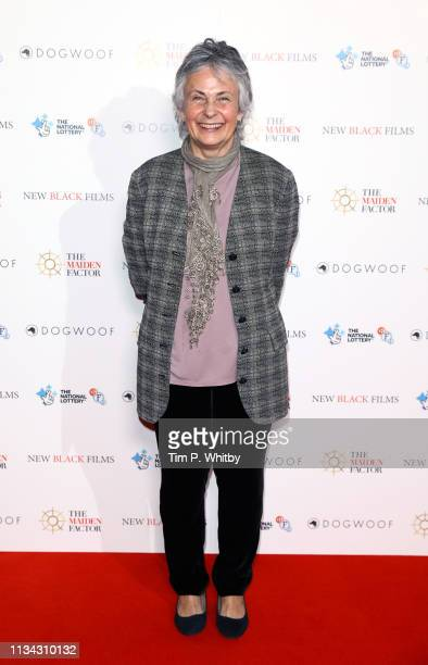 Jo Gooding attends the Maiden premiere at The Curzon Mayfair on March 07 2019 in London England