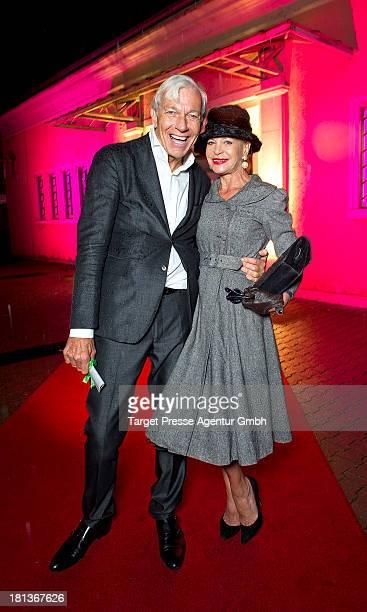 Jo Groebel and Barbara Engel attend the 'Fest der Eleganz und Intelligenz' at Villa Siemens on September 20 2013 in Berlin Germany
