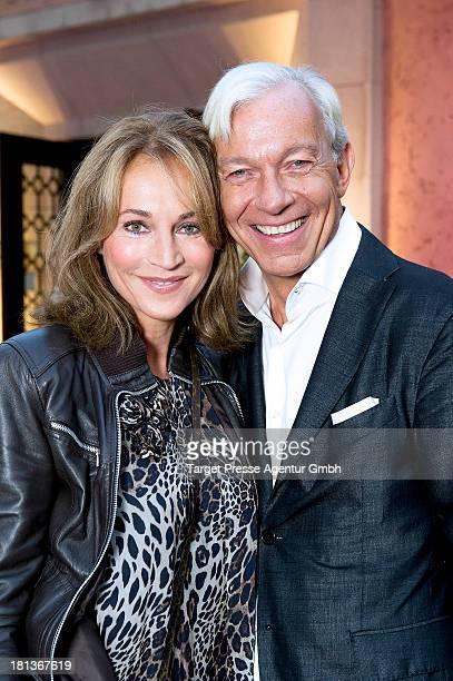 Jo Groebel and Caroline Beil attend the 'Fest der Eleganz und Intelligenz' at Villa Siemens on September 20 2013 in Berlin Germany