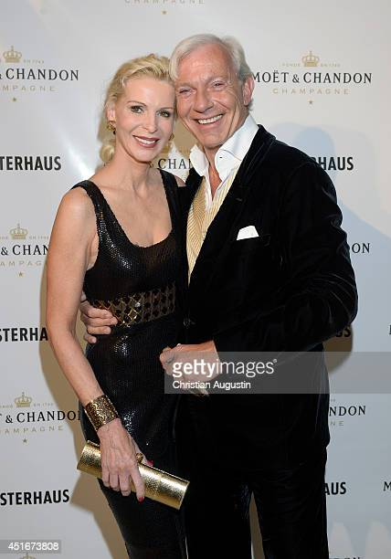 Jo Groebel and Grit Weis attend the the Moet Chandon Ice Imperial Summer Bash at Alsterhaus on July 3 2014 in Hamburg Germany