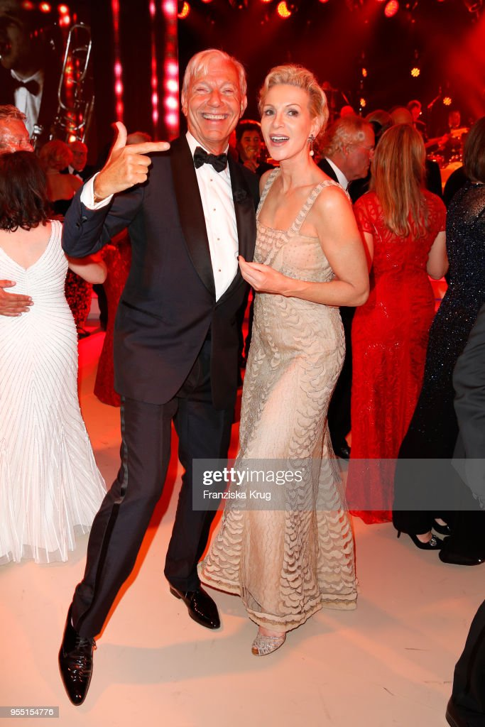 Jo Groebel and Grit Weiss during the Rosenball charity event at Hotel Intercontinental on May 5, 2018 in Berlin, Germany.
