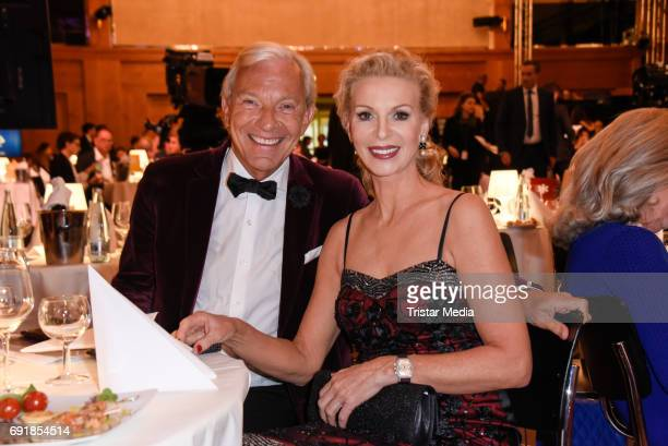 Jo Groebel and his girlfriend Grit Weiss attend the CIVIS Media Award 2017 on June 1 2017 in Berlin Germany