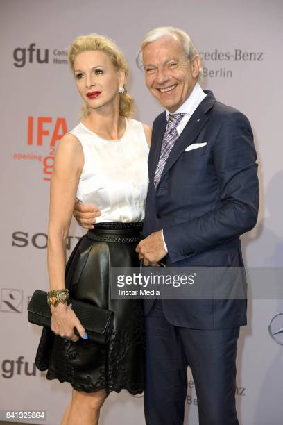 Jo Groebel and his wife Grit Weiss attend the IFA 2017 opening gala on August 31 2017 in Berlin Germany