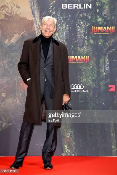 Jo Groebel attends the German premiere of 'Jumanji Willkommen im Dschungel' at Sony Centre on December 6 2017 in Berlin Germany