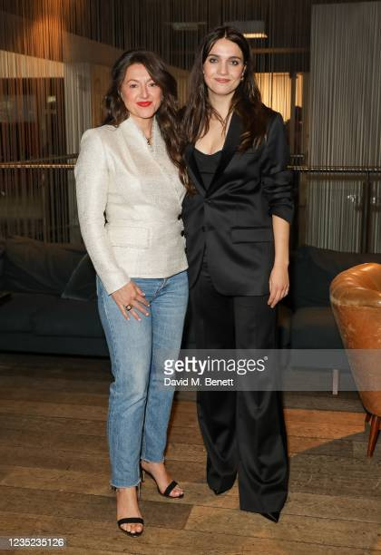 """Jo Hartley and Nell Barlow attend a preview screening of """"Sweetheart"""" at the BFI Southbank on September 13, 2021 in London, England."""