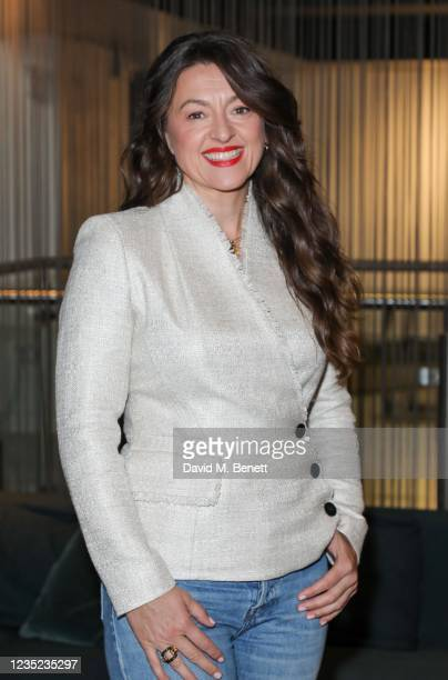 """Jo Hartley attends a preview screening of """"Sweetheart"""" at the BFI Southbank on September 13, 2021 in London, England."""
