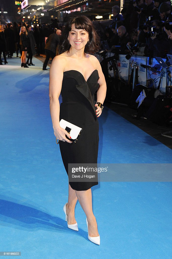 Jo Hartley attends the European premiere of 'Eddie The Eagle' at Odeon Leicester Square on March 17, 2016 in London, England.