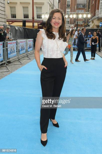 """Jo Hartley attends the UK Premiere of """"Swimming With Men' at The Curzon Mayfair on July 4, 2018 in London, England."""