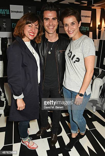 Jo Hartley Kelly Jones and Vicky McClure attend the launch of Stereophonics' new album 'Keep The Village Alive' at Drama Club on September 10 2015 in...