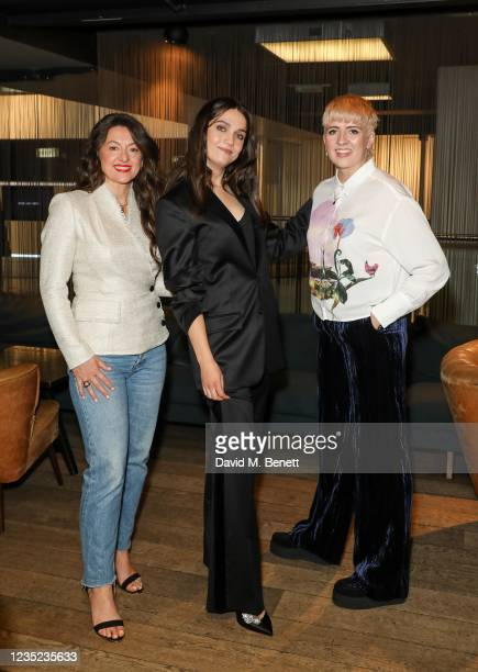 """Jo Hartley, Nell Barlow and Marley Morrison attend a preview screening of """"Sweetheart"""" at the BFI Southbank on September 13, 2021 in London, England."""