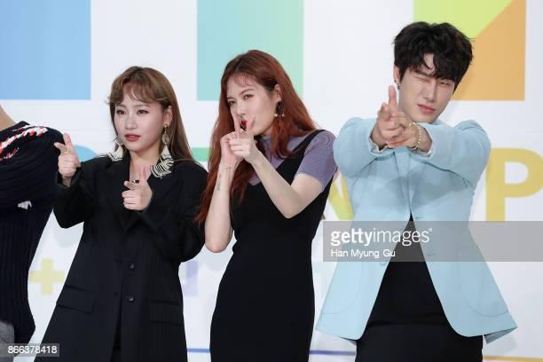Jo HyunA aka Jo Hyuna of Urban Zakapa HyunA of South Korean girl group 4minute and San E attend the KBS Idol Rebooting Project 'The Unit' Press...