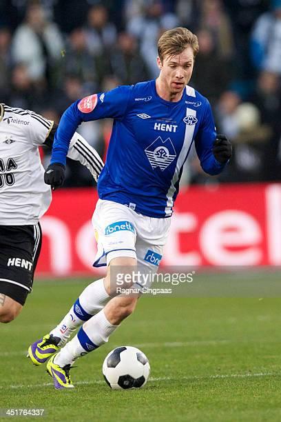 Jo Inge Berget of Molde FK in action during the Norwegian Cup Final match between Molde FK and Rosenborg BK at Ullevaal Stadion on November 24 2013...