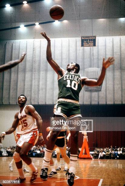 Jo Jo White of the Boston Celtics in action against the Baltimore Bullets during an NBA basketball game circa 1970 at the Baltimore Civic Center in...