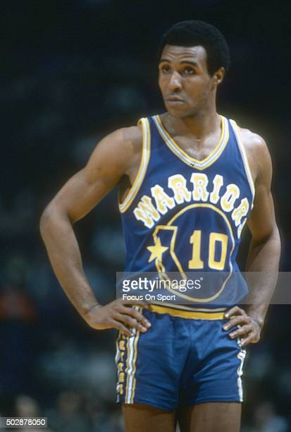 Jo Jo White of the Golden State Warriors looks on against the Washington Bullets during an NBA basketball game circa 1979 at the Capital Centre in...