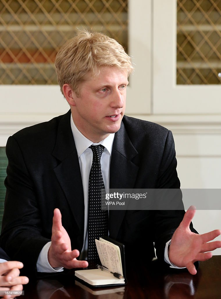 Jo Johnson the new Head of Policy for the Conservative party, speaks during a meeting at 10 Downing Street on April 25, 2013 in London, England. The Prime Minister has appointed Jo Johnson the younger brother of the Mayor of London, Boris Johnson to be his new Head of Policy.