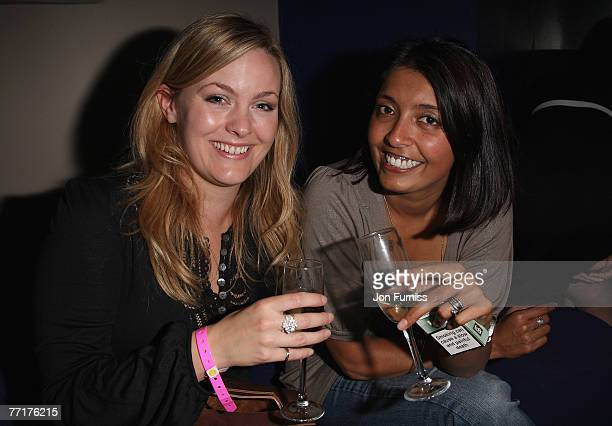 LONDON OCTOBER 03 Jo Joyner and guest attend the In The Pink Magazine Launch Party held at the CC Club on October 3 2007 in London