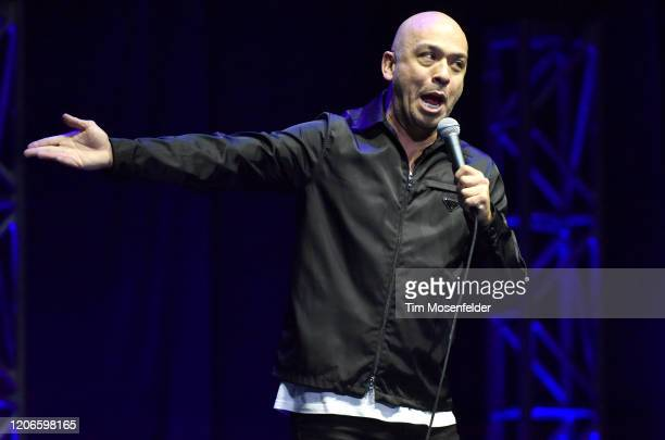 Jo Koy performs during his Just Kidding world tour at the Chase Center on February 15 2020 in San Francisco California