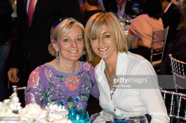 Jo Malone and Jane Moore during Rock by the River in Aid of the Royal Marsden Hospital at Old Billingsgate in London Great Britain