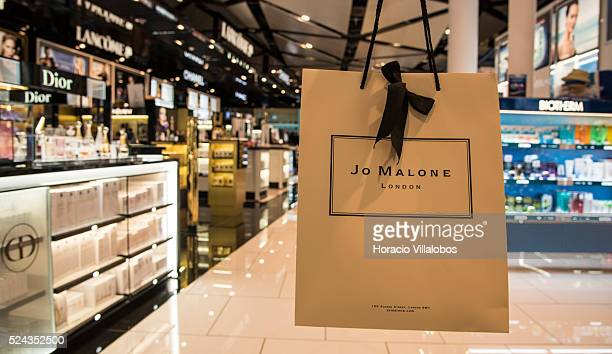 Jo Malone booth at Duty Free area in Terminal 1 of BarcelonaEl Prat Airport in Barcelona Spain 06 September 2015 Barcelona–El Prat Airport is the...