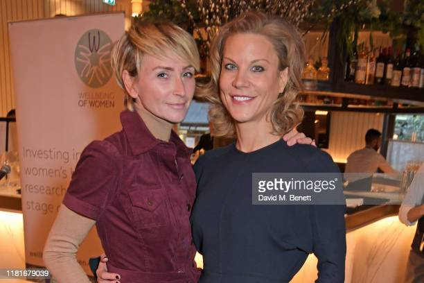 Jo Manoukian and Amanda Staveley attend a lunch hosted by Amanda Staveley for 'Wellbeing Of Women', Britain's foremost female health charity...